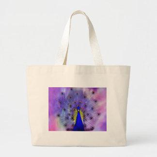 Pastel Peacock Jumbo Tote Bag