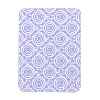 Pastel Periwinkle Blue Geometric Art Pattern Rectangle Magnet