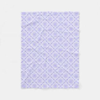Pastel Periwinkle Blue Geometric Pattern Fleece Blanket