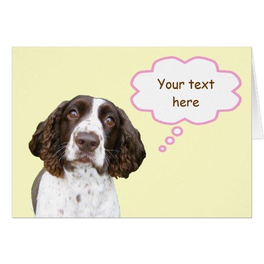 Pastel Personalised English Springer Spaniel Card