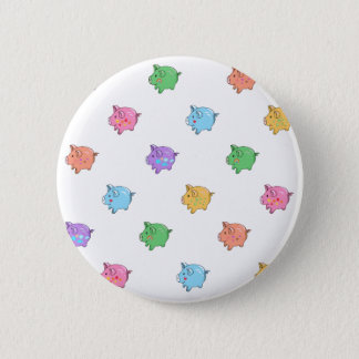 Pastel Pig Pattern 6 Cm Round Badge