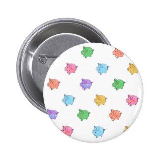 Pastel Pig Pattern 6 Cm Round Badge