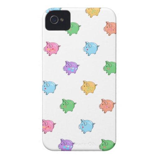 Pastel Pig Pattern Blackberry Bold Case