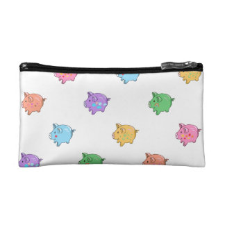 Pastel Pig Pattern Cosmetics Bags