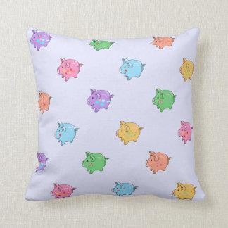Pastel Pig Pattern Cushion