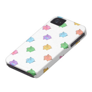 Pastel Pig Pattern iPhone 4 Case-Mate Case