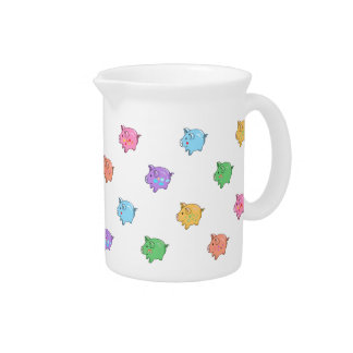 Pastel Pig Pattern Pitcher