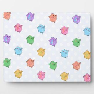 Pastel Pig Pattern Plaque