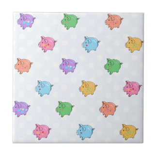 Pastel Pig Pattern Tile