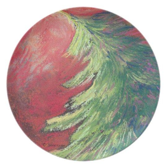 Pastel Pine Tree/Plate Plate