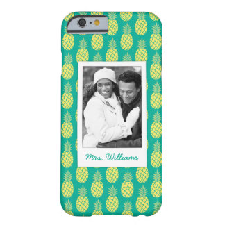 Pastel Pineapples | Add Your Photo & Name Barely There iPhone 6 Case