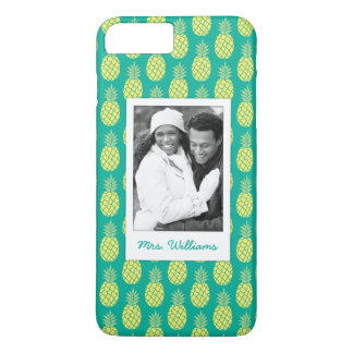 Pastel Pineapples | Add Your Photo & Name iPhone 8 Plus/7 Plus Case