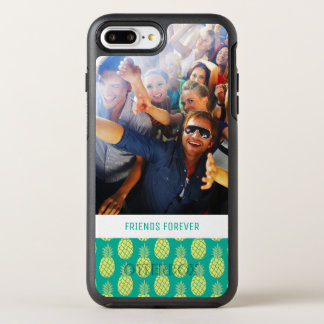 Pastel Pineapples | Add Your Photo & Text OtterBox Symmetry iPhone 8 Plus/7 Plus Case