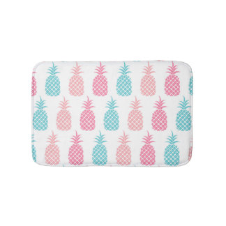 Pastel Pineapples Bath Mat
