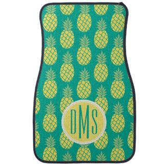 Pastel Pineapples | Monogram Car Mat