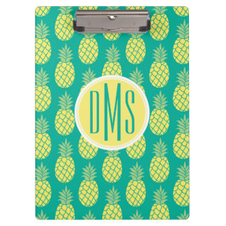 Pastel Pineapples | Monogram Clipboard