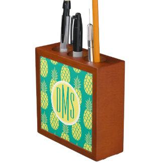 Pastel Pineapples | Monogram Desk Organiser