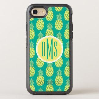 Pastel Pineapples   Monogram OtterBox Symmetry iPhone 8/7 Case