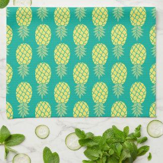 Pastel Pineapples   Monogram Tea Towel