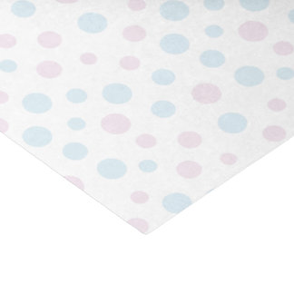 Pastel Pink and Blue Dots Tissue Paper