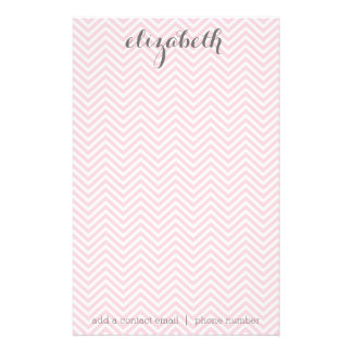 Pastel Pink and Gray Stationery Suite for Women