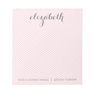 Pastel Pink and Gray Stationery Suite for Women Notepad