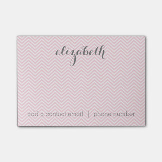 Pastel Pink and Gray Stationery Suite for Women Post-it Notes