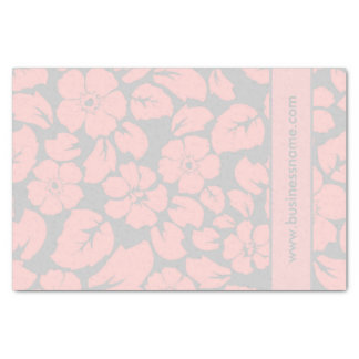 Pastel Pink and Grey Floral Tissue Paper