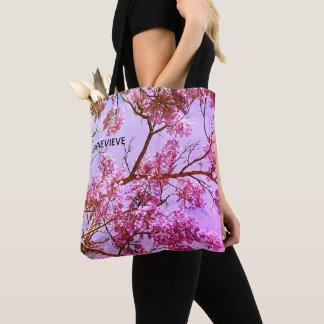 Pastel Pink and Lavender Floral Tote Bag