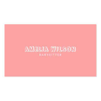 Pastel Pink and Mint Babysitter Nanny Pack Of Standard Business Cards