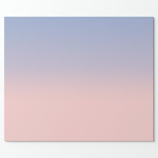 Pastel Pink and Sky Blue ombre Wrapping Paper