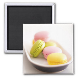Pastel Pink and Yellow Macaroons Cookies Magnet