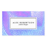 Pastel pink, aqua and lilac mermaid scale fabric pack of standard business cards