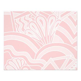 Pastel Pink Art Deco Style Design. 11.5 Cm X 14 Cm Flyer
