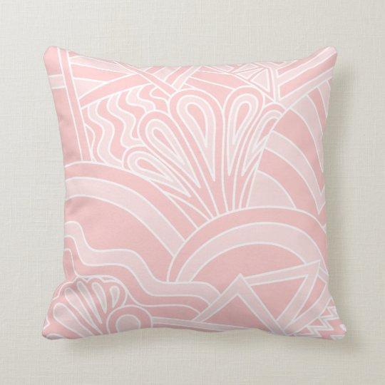 Pastel Pink Art Deco Style Design. Cushion