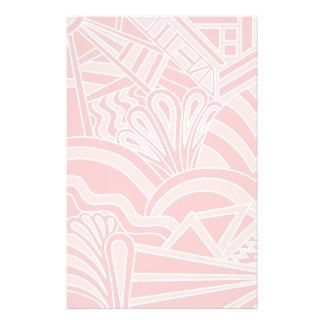 Pastel Pink Art Deco Style Design Flyer Design