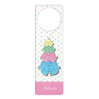 Pastel Pink Baby Elephant Birth Door Hangers