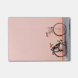 Pastel Pink Bike Basket Bicycle Two Wheel Post-it Notes