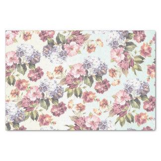 Pastel pink blue bohemian boho vintage floral tissue paper