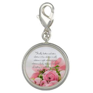 Pastel Pink Bouquet of Flowers Bible Verse