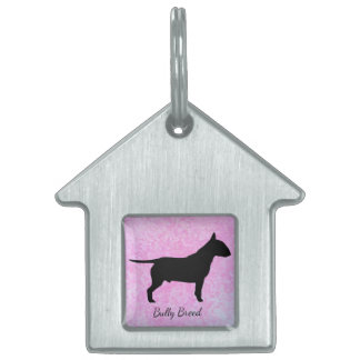 Pastel Pink Bully Breed Dog Home Pet Tag