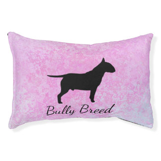 Pastel Pink Bully Breed Dog Indoor Dog Bed-Small Pet Bed