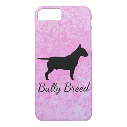 Pastel Pink Bully Breed Dog Iphone Case