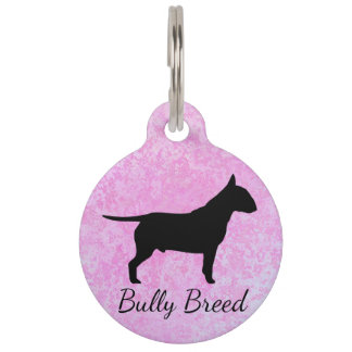 Pastel Pink Bully Breed Large Pet Tag