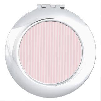 Pastel Pink Candy Stripes. Makeup Mirror