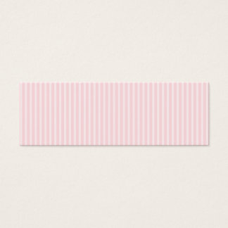 Pastel Pink Candy Stripes. Mini Business Card