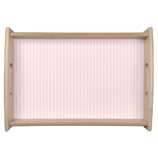 Pastel Pink Candy Stripes. Serving Tray