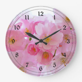 Pastel Pink Cherry Blossoms Clocks