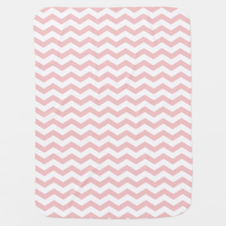 Pastel Pink Chevron Zigzag Baby Blanket