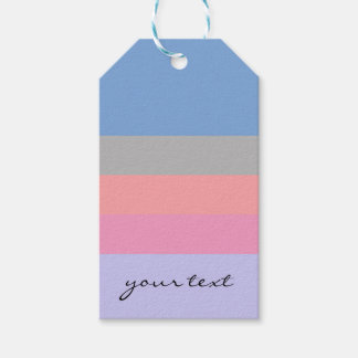 pastel pink coral grey blue purple color block gift tags